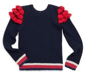 Gucci Toddler's, Little Girl's& Girl's Cotton Ruffle Sweater