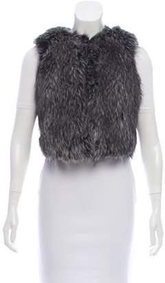Vince Faux Fur Crop Vest