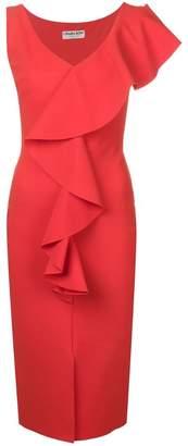 Chiara Boni Le Petite Robe Di ruffle wrap dress