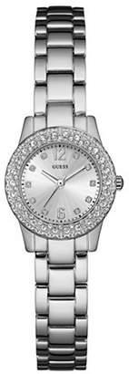 GUESS W0889L1 Silvertone Stainless Steel Bracelet Watch