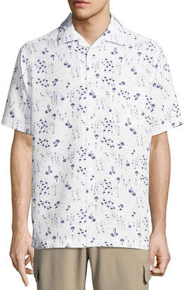 Haggar Short Sleeve Button-Front Shirt