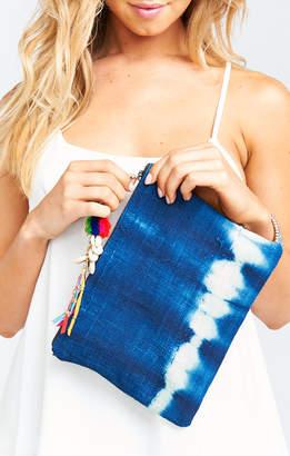 Show Me Your Mumu Indigo Clutch Bag with Detachable Keychain ~ Blue