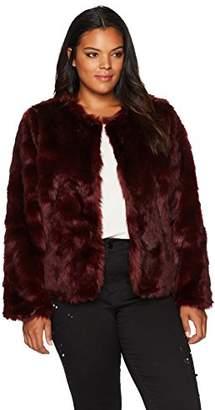 Wilson Rebel X Angels Women's Plus Size Faux Fur Jacket