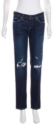 Simon Miller Mid-Rise Straight-Leg Jeans