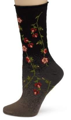 Ozone Women's Tibetan Flowers Sock