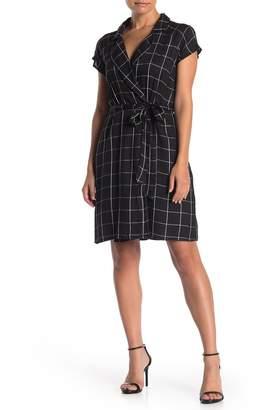 HYFVE Grid Print Waist Belt Dress