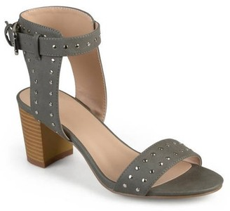 Co Brinley Womens Faux Leather Studded Ankle Strap High Heel