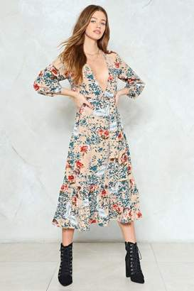 Nasty Gal Hit the Floral Maxi Dress