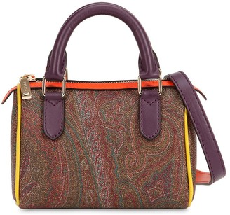 Etro Paisley Printed Faux Leather Bag