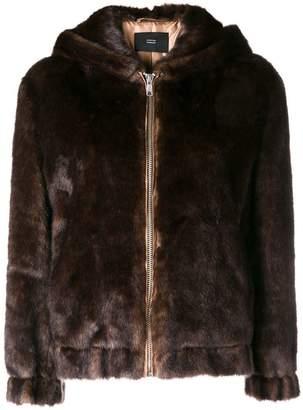 Steffen Schraut faux fur hooded jacket