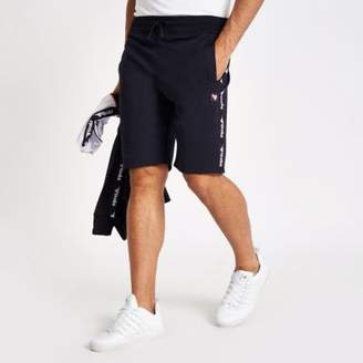 River Island Gola navy tape shorts