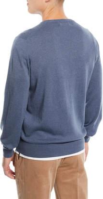 Brunello Cucinelli Basic Cashmere V-Neck Sweater