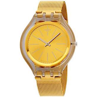 Swatch Unisex Adult Analogue Quartz Watch with Stainless Steel Strap SVUK101M