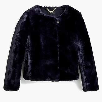J.Crew Cropped faux fur coat