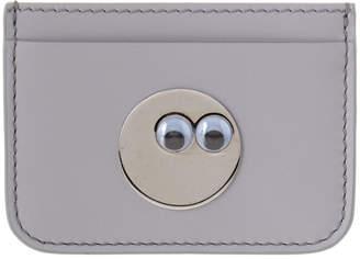 Sophie Hulme Googly Eye Rosebery Leather Card Holder