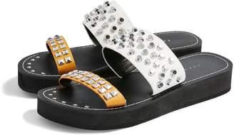 Topshop Fierce Stud Slide Sandal