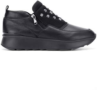 Geox side zipped sneakers