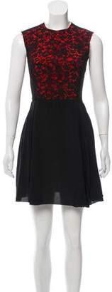 Miu Miu Lace-Accented Mini Dress