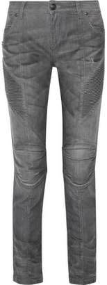 Pierre Balmain Low-Rise Distressed Skinny Jeans