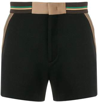 Fendi striped trim shorts