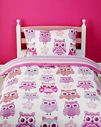Fashion World Twit Twoo Duvet Cover Set