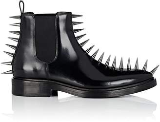 Balenciaga Men's Spike-Embellished Leather Chelsea Boots