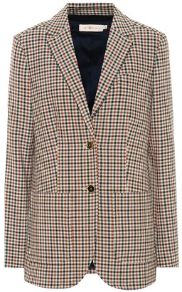 Tory Burch Checked single-breasted blazer