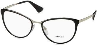 Prada PR 55TV Glasses in Black Silver PR 55TV 1AB1O1