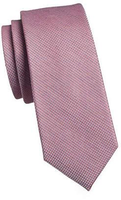 Calvin Klein Micro Grid Slim Tie