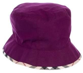 Burberry Nova Check-Trimmed Bucket Hat