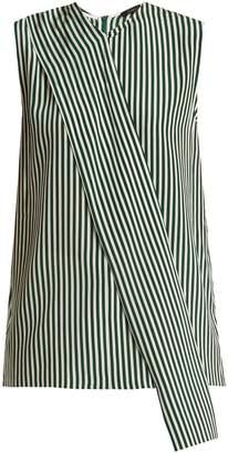Joseph Noon asymmetric striped sleeveless top