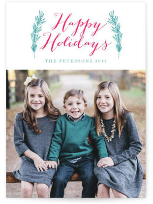 holiday and leaves Custom Selflaunch Stationery
