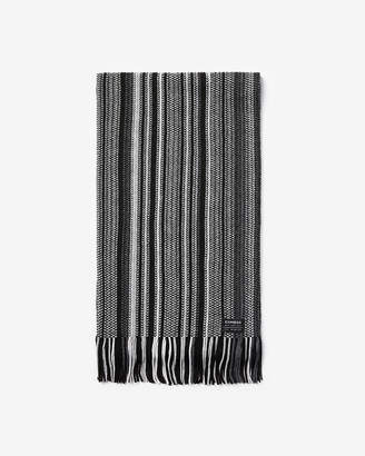 Express Ombre Stripe Merino Wool-Blend Scarf
