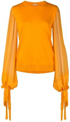 No.21 sheer sleeve knitted top