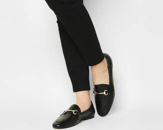 f61f88fbd41 Office Destiny Trim Loafers Black Leather 2