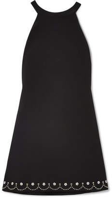 Miu Miu Embellished Cady Mini Dress - Black