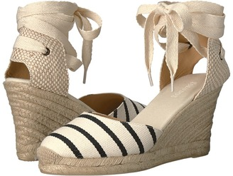 Soludos - Striped Tall Wedge Women's Wedge Shoes $95 thestylecure.com