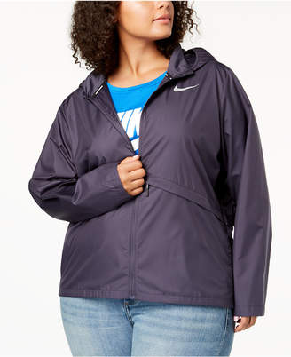 Nike Plus Size Essential Water-Repellent Hooded Running Jacket