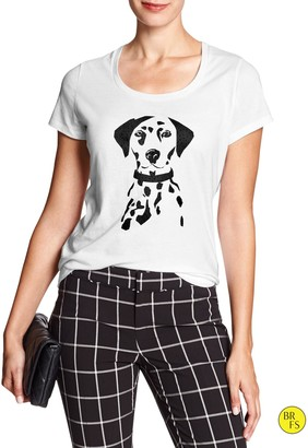 Banana Republic Factory Dalmatian Graphic Tee