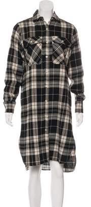 R 13 Plaid Shirt Dress