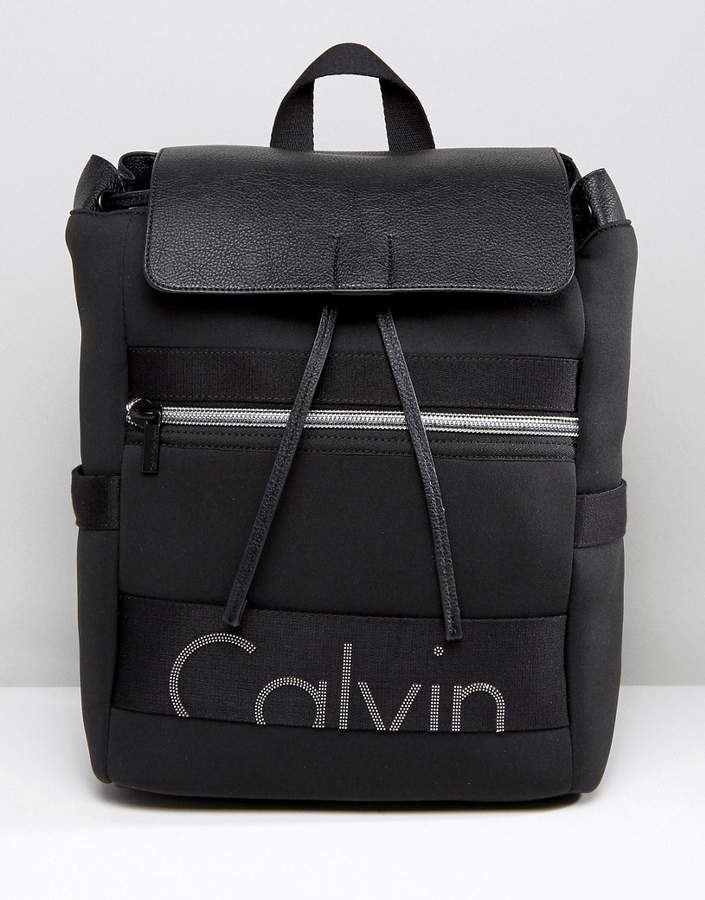 Calvin Klein Exclusive Re-Issue Fold Over Scuba Backpack