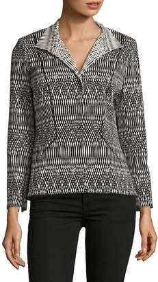 Lafayette 148 New York Women's Laryn Long-Sleeve Printed Jacket - Black-multi, Size 6