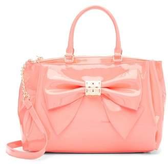 Betsey Johnson Neon Bow Satchel Bag