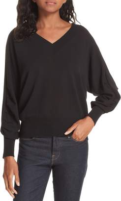 Brochu Walker Ashbey V-Neck Cotton Sweater