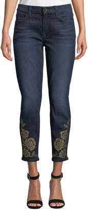 7 For All Mankind Jen7 By The Ankle Skinny Jeans with Studded Hem