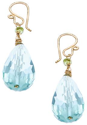Calico Juno Aquamarine Crystal Drop Earrings