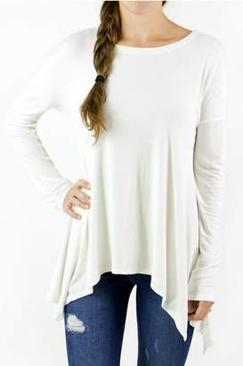 Grace & Lace Ivory Ribbed Tee