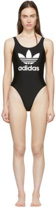 adidas Black Trefoil One-Piece Swimsuit