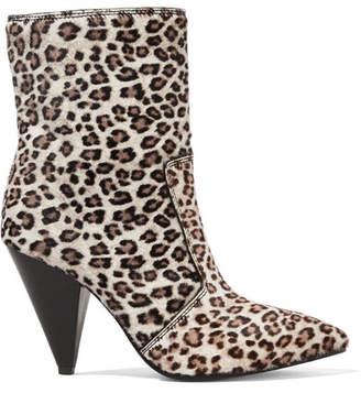 Stuart Weitzman Atomic West Leopard-print Calf Hair Ankle Boots - Leopard print