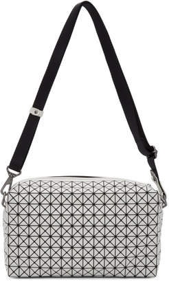 Bao Bao Issey Miyake White and Black Saddle Bag